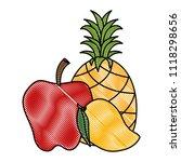 fresh fruits set menu | Shutterstock .eps vector #1118298656