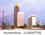 skyline of midtown atlanta at...   Shutterstock . vector #1118307782