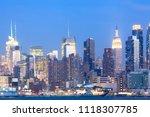 skyline of midtown manhattan at ...   Shutterstock . vector #1118307785
