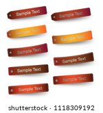 set of 9 shapes leather sign... | Shutterstock .eps vector #1118309192