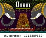 happy onam festival greetings... | Shutterstock .eps vector #1118309882