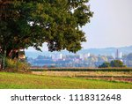 a hunting lodge at the edge of...   Shutterstock . vector #1118312648