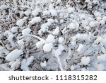 snow scenery and rime in the... | Shutterstock . vector #1118315282
