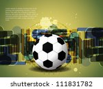 creative football background... | Shutterstock .eps vector #111831782