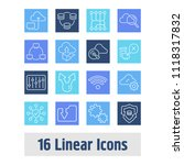 computing icon set and routing...