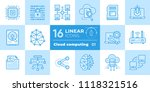 linear icon set of cloud... | Shutterstock .eps vector #1118321516