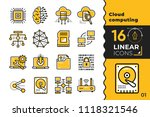 linear icon set of cloud... | Shutterstock .eps vector #1118321546