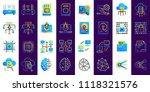 gradient flat  outline icons... | Shutterstock .eps vector #1118321576