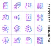 gradient outline icons set of... | Shutterstock .eps vector #1118321582