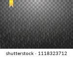 rain transparent template... | Shutterstock .eps vector #1118323712