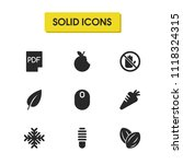 universal icons set with carrot ...