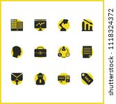 work icons set with head money  ... | Shutterstock .eps vector #1118324372
