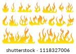 fire icon set. design element | Shutterstock .eps vector #1118327006