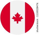 circular flag of canada   Shutterstock .eps vector #1118328476