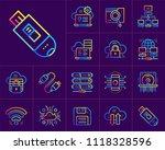 gradient outline icons set of... | Shutterstock .eps vector #1118328596