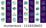 gradient flat icons set of... | Shutterstock .eps vector #1118328602