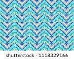 ikat geometric folklore... | Shutterstock .eps vector #1118329166