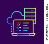 outline gradient icons database ... | Shutterstock .eps vector #1118331062
