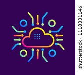 outline gradient icons cloud... | Shutterstock .eps vector #1118331146