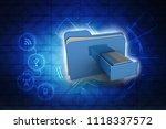 3d rendering folder with... | Shutterstock . vector #1118337572