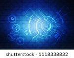 2d illustration technology... | Shutterstock . vector #1118338832