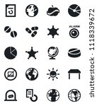 set of vector isolated black... | Shutterstock .eps vector #1118339672
