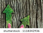 shoes standing at the crossroad ...   Shutterstock . vector #1118342936