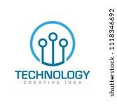 technology logo vector | Shutterstock .eps vector #1118346692