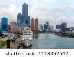 beautiful urban skyline by... | Shutterstock . vector #1118352542