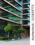 details of a modern office... | Shutterstock . vector #111835772