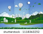 eco friendly save the... | Shutterstock .eps vector #1118363252