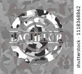 bachelor grey camouflaged emblem | Shutterstock .eps vector #1118368862