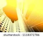 abstract modern architecture | Shutterstock . vector #1118372786