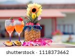 tropical drinks to refresh the... | Shutterstock . vector #1118373662