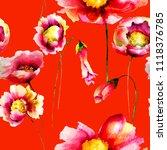seamless wallpaper with wild...   Shutterstock . vector #1118376785