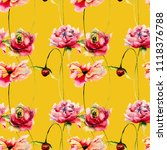 seamless wallpapers with... | Shutterstock . vector #1118376788