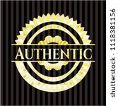 authentic shiny badge   Shutterstock .eps vector #1118381156