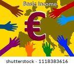 universal basic income   ... | Shutterstock . vector #1118383616