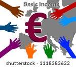universal basic income   ... | Shutterstock . vector #1118383622