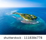 aerial view of the tropical... | Shutterstock . vector #1118386778