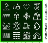 set of 16 nature outline icons... | Shutterstock .eps vector #1118388236