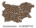 bulgaria    map of coffee bean  ... | Shutterstock .eps vector #1118389742
