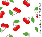 seamless pattern with a red...   Shutterstock .eps vector #1118392748