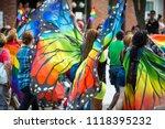 gay pride carnival parade... | Shutterstock . vector #1118395232