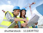 construction manager and... | Shutterstock . vector #111839702
