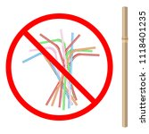 refusal of disposable plastic... | Shutterstock .eps vector #1118401235