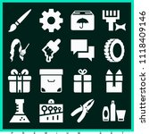 set of 16 other filled icons... | Shutterstock .eps vector #1118409146