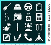 set of 16 tool filled icons... | Shutterstock .eps vector #1118413202