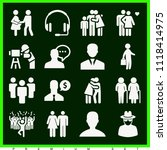 set of 16 man filled icons such ... | Shutterstock .eps vector #1118414975