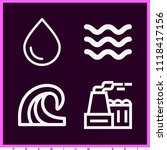 set of 4 nature outline icons... | Shutterstock .eps vector #1118417156
